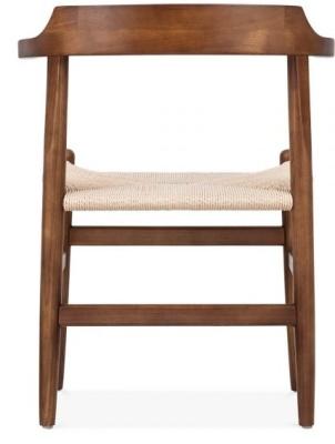 Hans J Wegner Pp68 Chair Rear Shot Dark Wood Finish