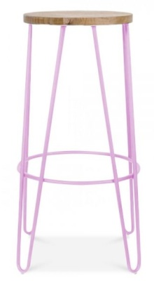Hairpin Stool Lilac Frame Front View