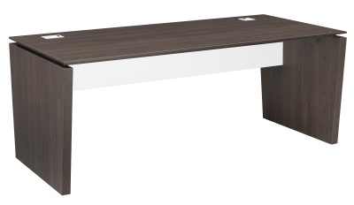 Xenon Executive Desk In Dark Oak