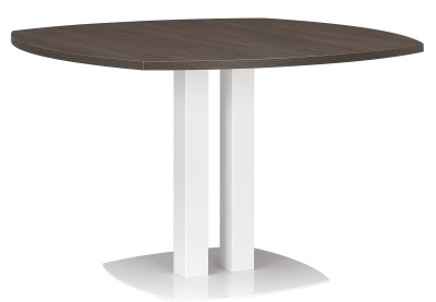 Xenon Round Table With A Dark Oak Top