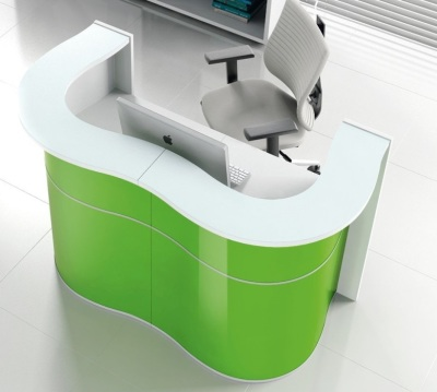 Indulge Compact Double Wave Reception Desk To Clear