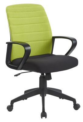 Tango Folding Chair Lime Green Back Fromnt Angle