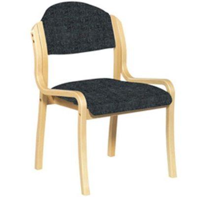 Derby Side Chair Black Fabric