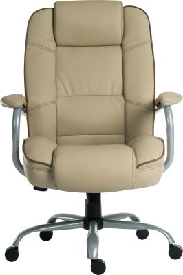Goliato Chair Cream Leather Front Shot