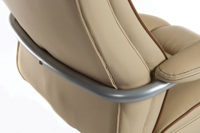 Goliato Chair Cream Leather Detail Shot 1