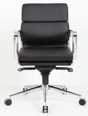 Topaz Eames Style Medium Back Executive Chair Facing Shot
