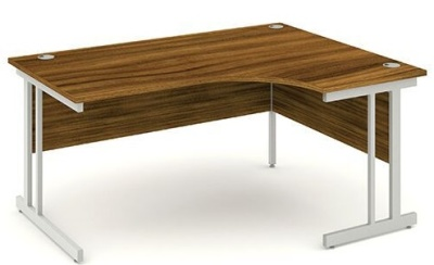 Re Volution Right Hand Corner Desk In Walnut
