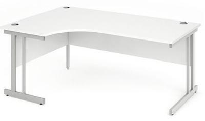 Revolution Left Hand Corner Desk With A White Top