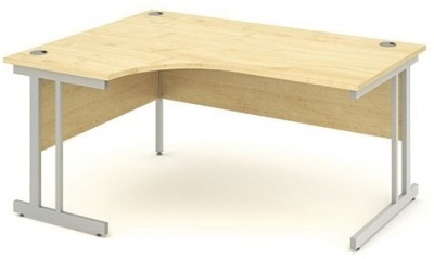 Revolution Left Hand Corner Desk With A Maple Top
