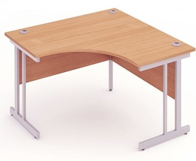 Inpulse Crescent Desk With A Beech Top