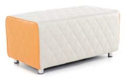 Vantec Two Seater Bench Orange And Light Grey