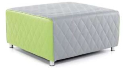 Vantec Square Break Out Stool Grey And Lime Green