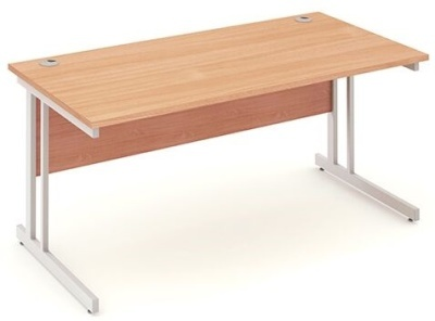 Abacus 2 Rectangulr Desks Beech Top
