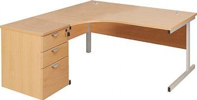 Abacus Corner Desk And Desh Heigt Pedestal