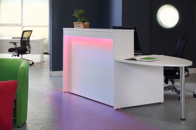 GM Reception Desk With Lighting And Extension Desk
