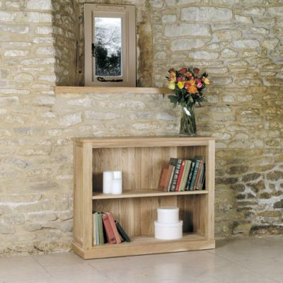 Warwick Solid Oak Low Bookcase 2