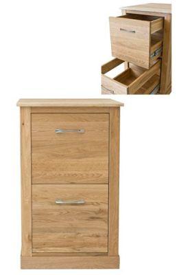 Warwick Solid Oak Filing Cabinet 3
