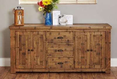 Hatfield Sawn Oak Large Sideboard
