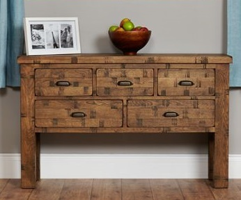 Hatfield Sawn Oak Console Table