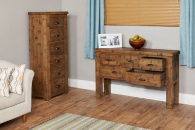 Hatfield Sawn Oak Console Table 4