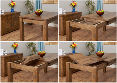 Hatfield Rough Sawn Extendable Dining Table 2