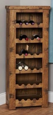 Hatfield Sawn Oak Wine Rack 1