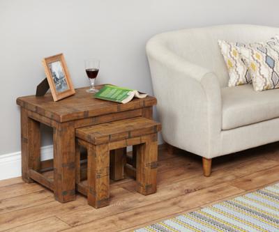 Hatfield Nest Of Two Sawn Oak Coffee Tables 2