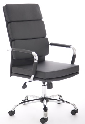 Evoque High Back Leather Chair Front Angle