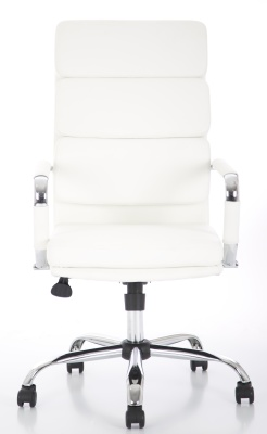 Evoque High Back White Leather Execfutive Chair