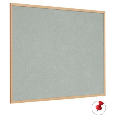 Anti Bacterial Forbo Noticeboard With A Wood Effect Frame