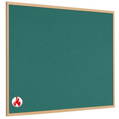MB Wood Framed Hessian Flame Retardant Noticeboards
