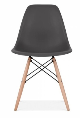 Eames Inspired DSW Chaior In Black Front