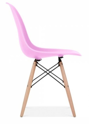 Eames Inspired DSW Chair In Lilac Side View