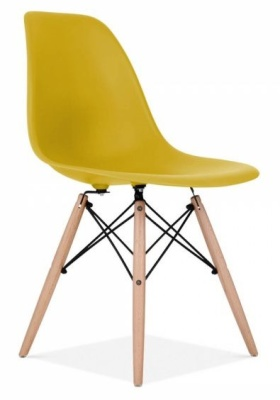 Eames Inspired DSW Chair Olive Green Shell