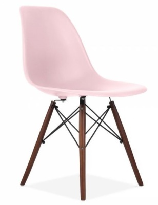 Eames Inspired Dsw Chair With A Baby Oink Seat And Walnut Legs Angle Shot