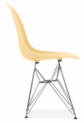 Eames DSW Chair Cream Seat Side Angle