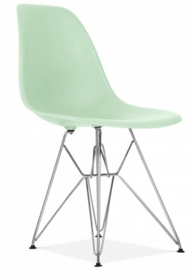 Eames DSW Chair Peppermint Green Front Angle