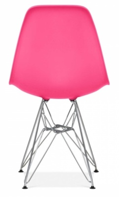 Eames Dsw Chair Lipstick Pink Chair Rear Shot