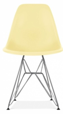 Eames Inspired Dsw Chair Lemon Seat Front Shot