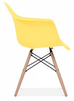 Eames Inspired DAW Chair With A Lemon Seat Side Angle