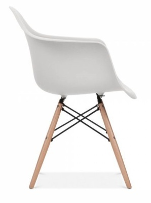 Eames Inspired DAW Chair Lighyt Grey Seat Side Shot