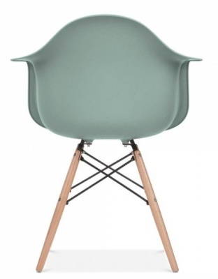 Eames Inspired DAW Chair With A Silver Blue Seat Rear View