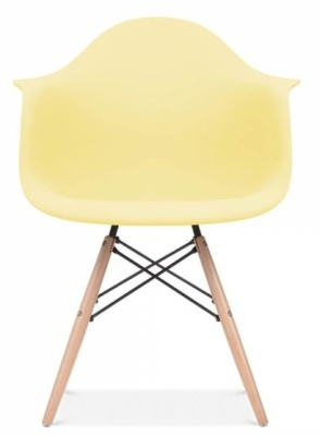 Eames Inspired DAW Chair With A Lemon Seat Front View