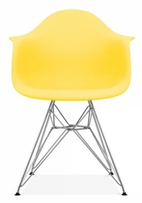 Eames Inspired DAR Chair With A Lemon Seat Front Shot