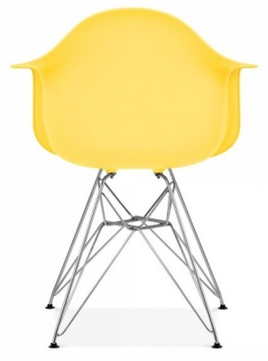 Eames Inspired DAR Chair With A Lemon Seat Rear Shot