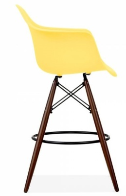 Eames Inspired High Hstool With A Yelllow Seat Side Viewe