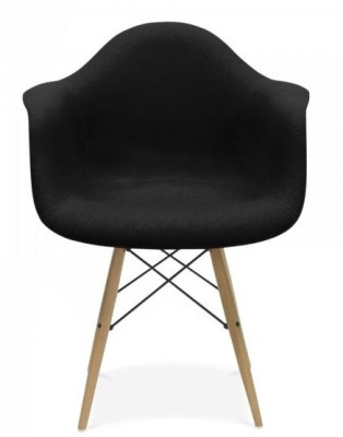 Inspired Eames Upholstered Daw Chair Front Shot