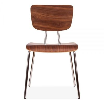 Costas Designer Walnut Chair Front Shot