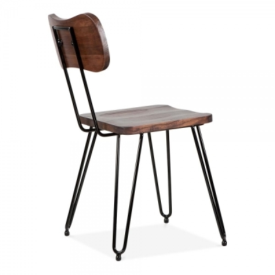 Tex Toldo Dining Chair Walnut Finish Side Angle