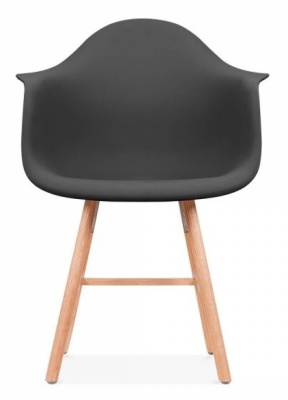 Eames Inspired DAW Chair With A Black Seat And Ohxford Legs Front Shot